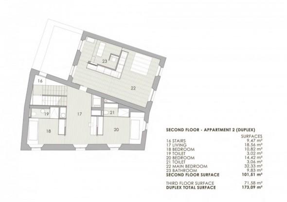 Alemanys 5 El Badiu Apartment by Anna Noguera-blue print