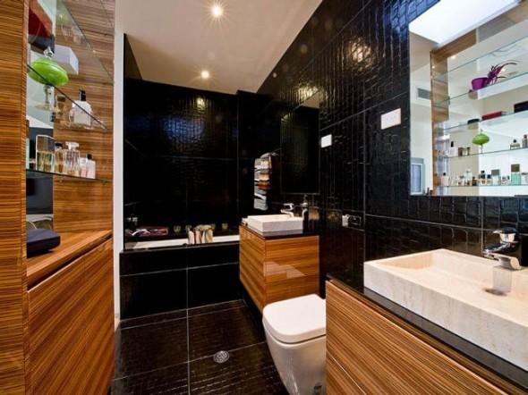 Bachelor Apartment Design Bathroom
