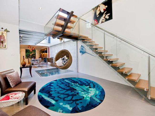 Bachelor Apartment Design Living Room Rug