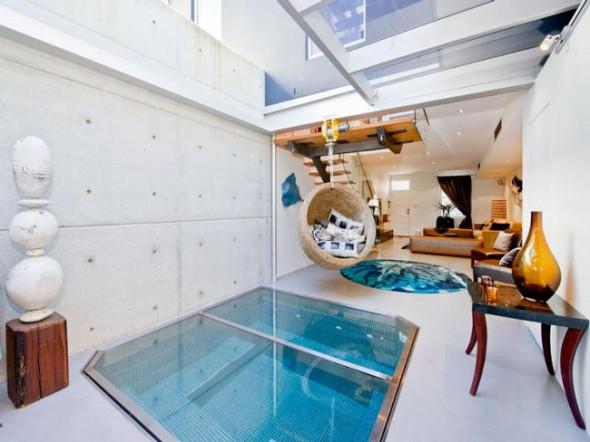 Bachelor Apartment Design Living Room Spa