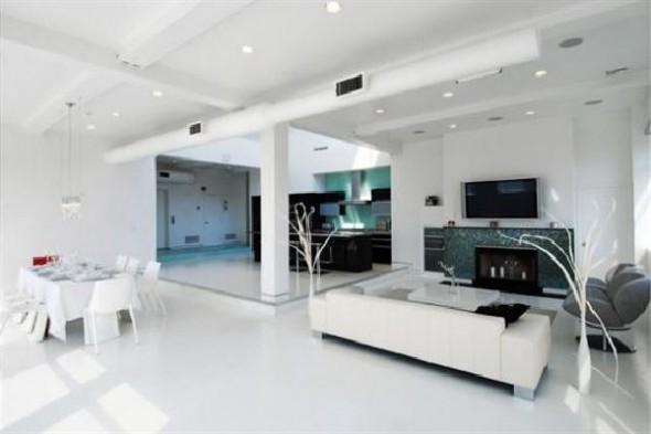 Black and White Apartment Interior Designs Lounge room