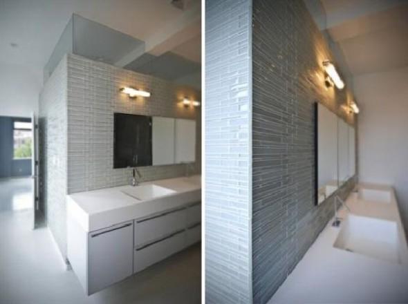 Black and White Apartment Interior Designs bathroom sinks