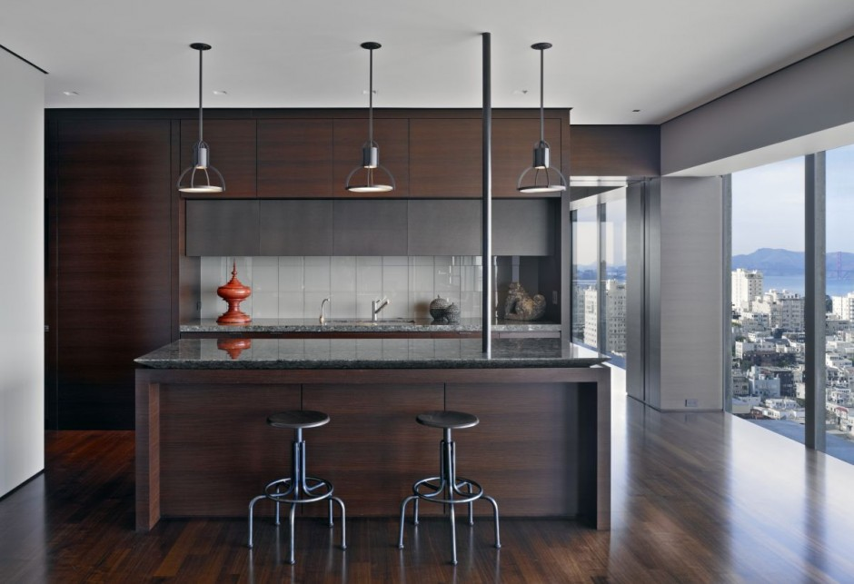 Contemporary Apartment Design Kitchen And Dining Room Area