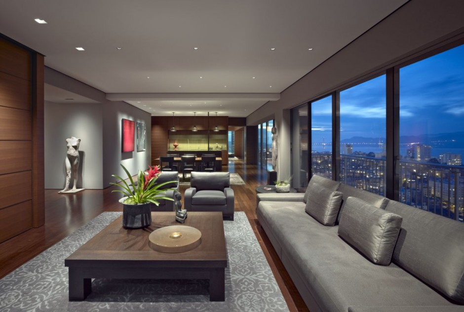 Contemporary Apartment Design Living Room Area