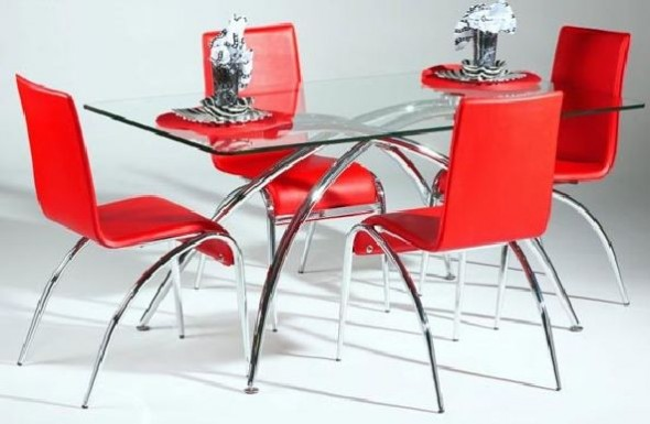 Elaine red dining Table furniture
