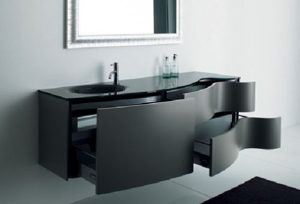 Elegant Black Bathroom Cabinets Max from Novello