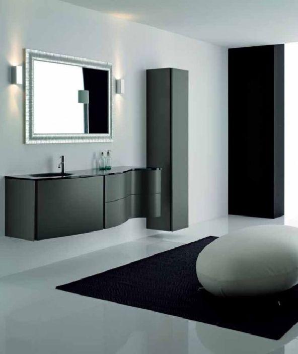 Elegant Black Bathroom Cabinets