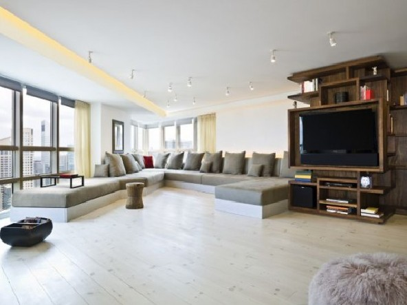 Living room apartment design by Apartment Creative Agency