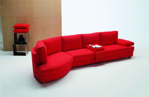 Red Modern Sectional Sofas Design