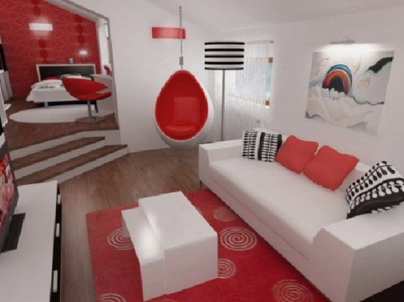 Red Studio Design for Apartment by Henri Matisse