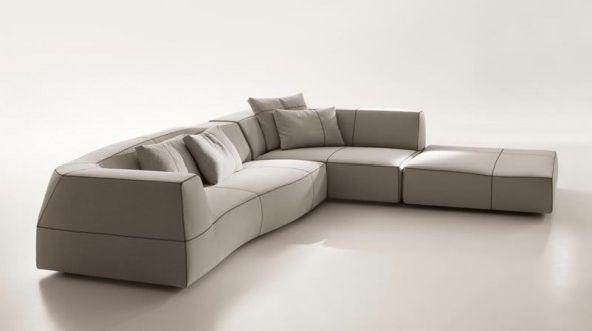 Sectional Sofas Furniture Design Bend Patricia Urquiola BB Italia White