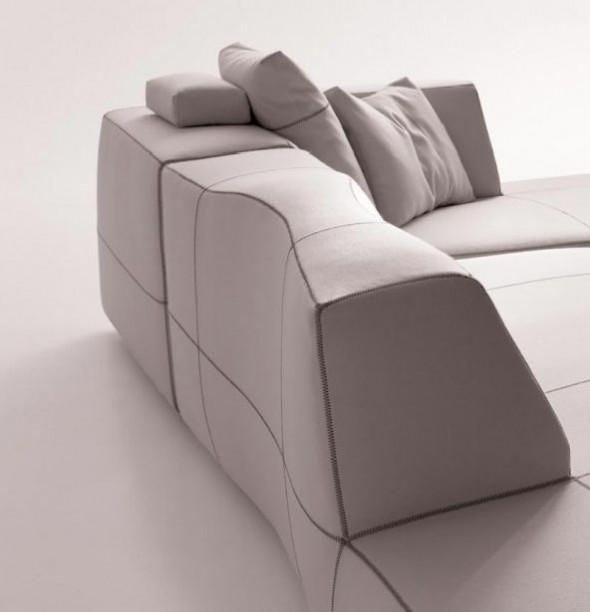 Sectional Sofas Furniture Design Bend Patricia Urquiola Backrest White
