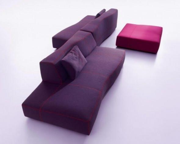 Sectional Sofas Furniture Design Bend Patricia Urquiola Curved Purple