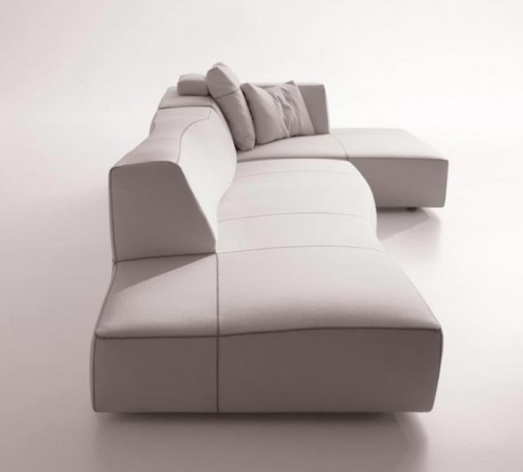 Sectional Sofas Furniture Design Bend Patricia Urquiola Curved White