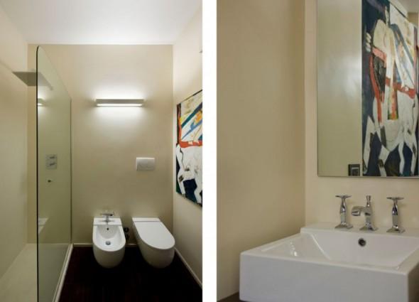 Trastevere Apartment by Carola Vannini-Bath room
