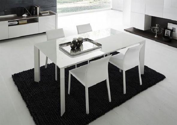White Dining Room Set Rossetto Slide ideas