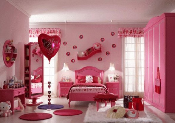 amazingly pink kids room inspiration