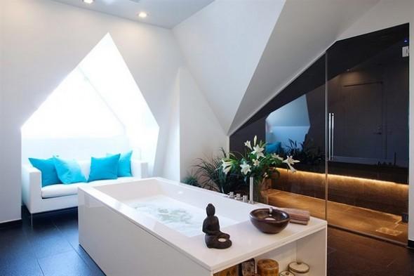 bathtub apartment technology meets Indian philosophy