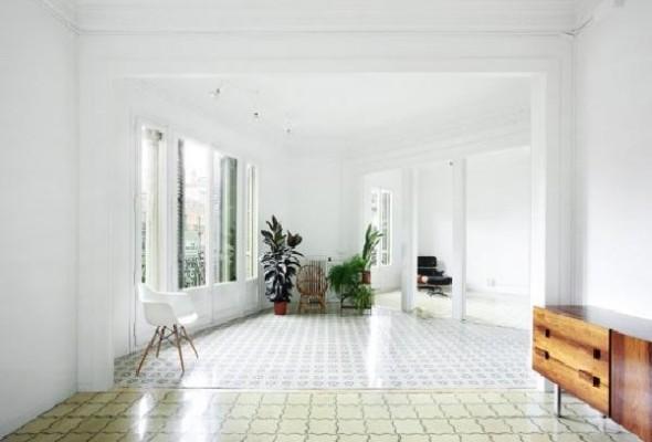 contemporary retro 160sqm apartment large party room space area