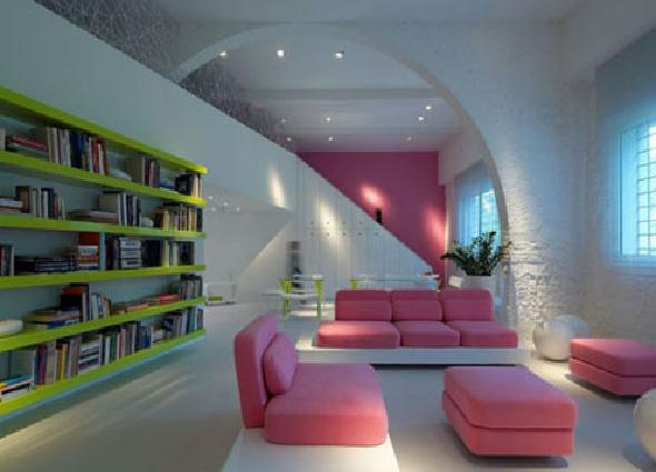 cute pink leather sofa apartment furniture