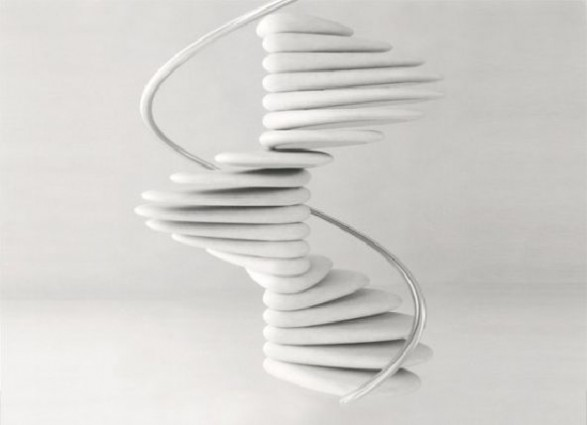 decorating curved staircase