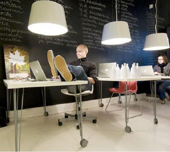 fresh and colorful office interiors