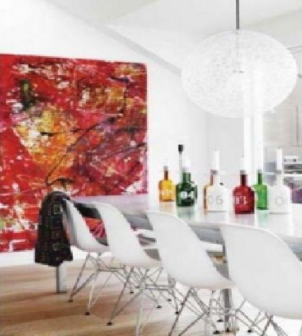 minimalist artist apartment dining room