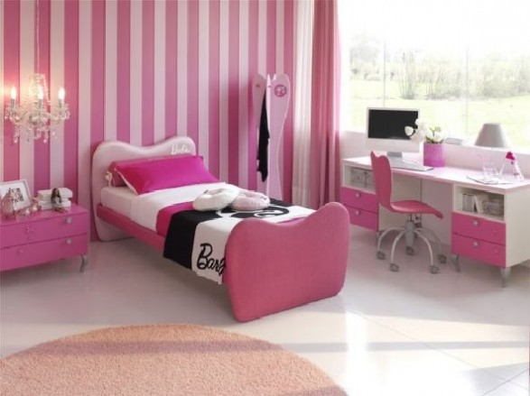 pictures of pink rooms