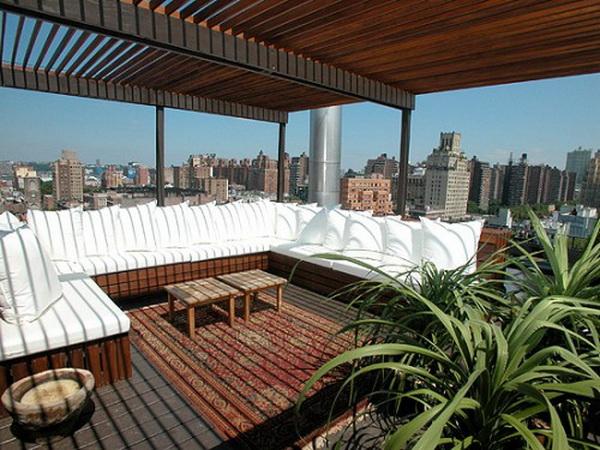 rooftop pergola designs apartment