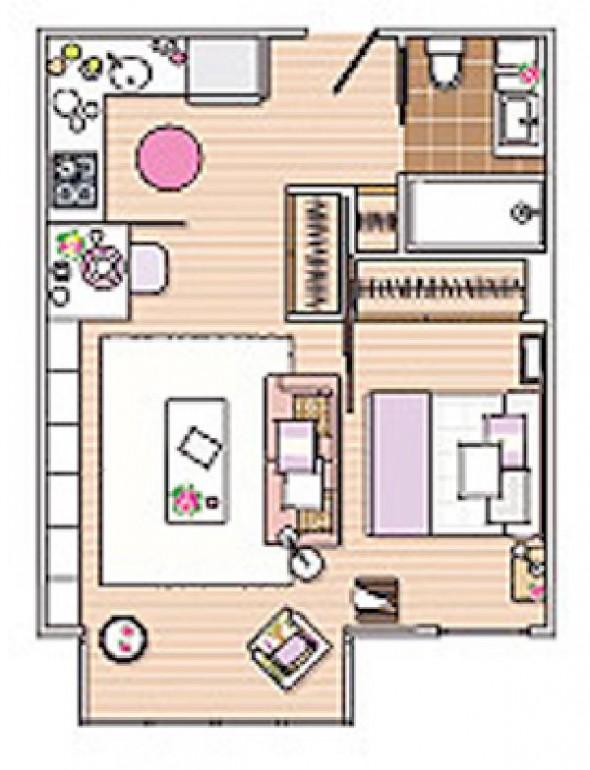 square meter apartment comfy