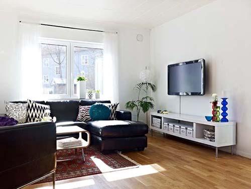 Living Room Cozy Semi Open House, Cozy Semi-Open Apartment Interior Design