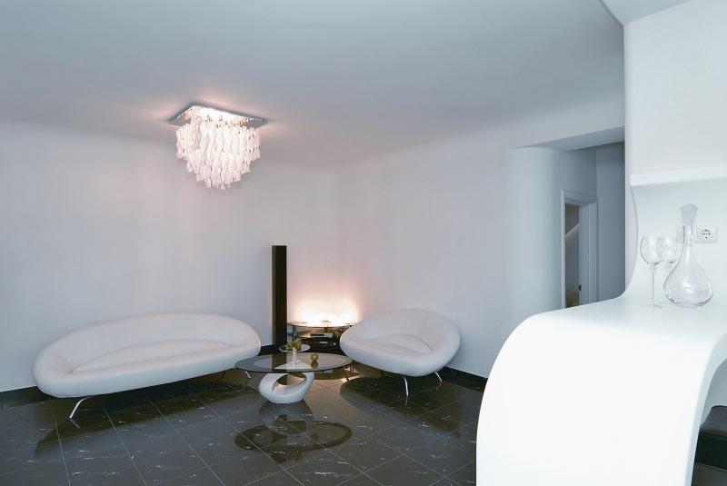 Living Room at Futuristic Apartment Interior