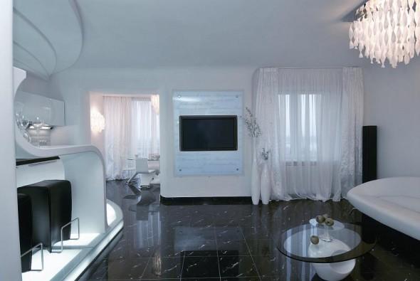 Luxury Interior Design at Futuristic Apartment Interior