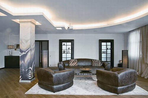 chic leather african exotic sofa