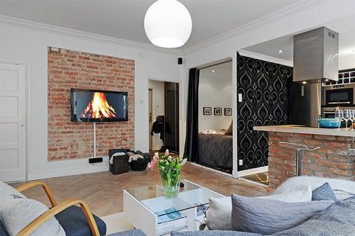 comfortable scandinavian living room design