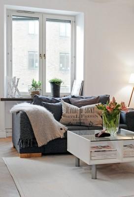 gray sofa comfortable furniture set