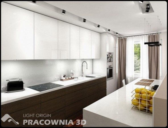 Bright Small Apartment Design by Pracownia 3D