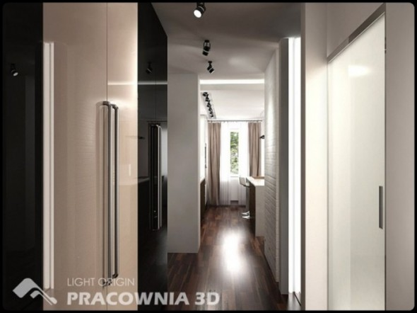 Interior Small Apartment Design by Pracownia 3D