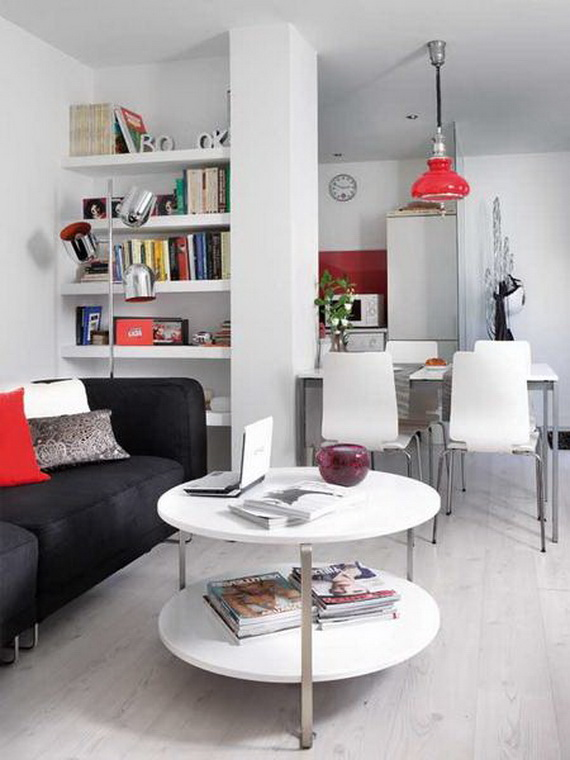 Living-Very Small Apartment Design Ideas by Angelina Jolie