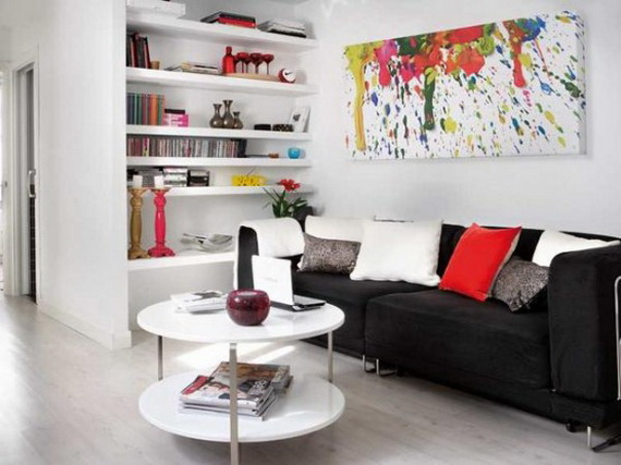 Living room-Very Small Apartment Design Ideas by Angelina