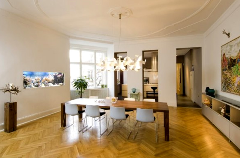 modern apartment interior design ideas berlin rodeo dining room - Dining Room Interior Design Ideas