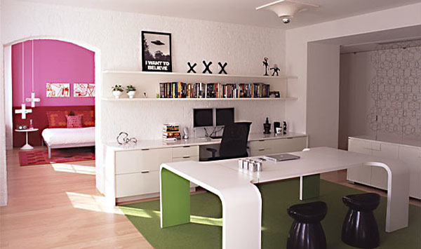 interior design who really enjoy pink and green colors