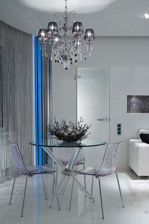 Modern Apartment Design Snowy Christmas Style by Erges-Beautiful Lighting Design