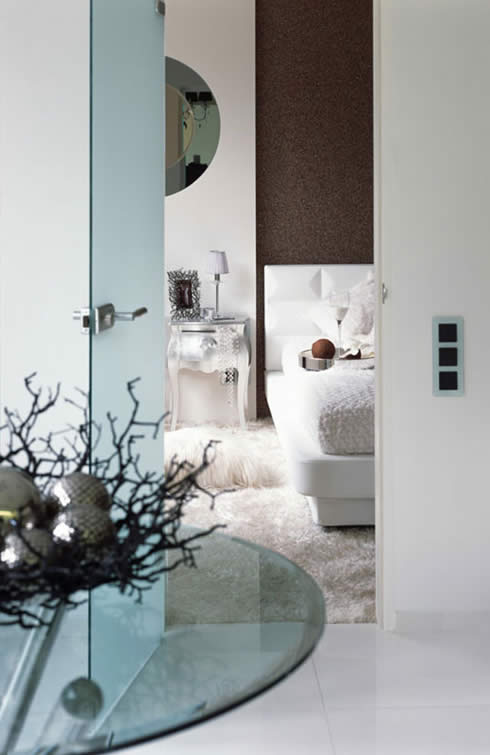 Modern Apartment Design Snowy Christmas Style by Erges-Bedroom