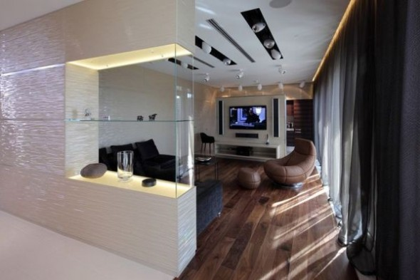 Contemporary Living Penthouse in Moscow