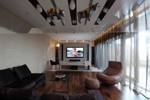 Contemporary Penthouse in Moscow