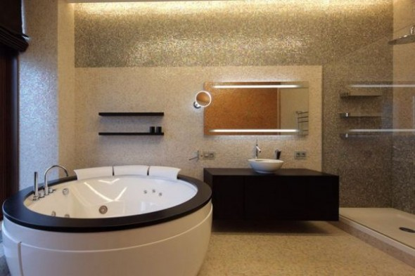 Contemporary bathtub Penthouse in Moscow