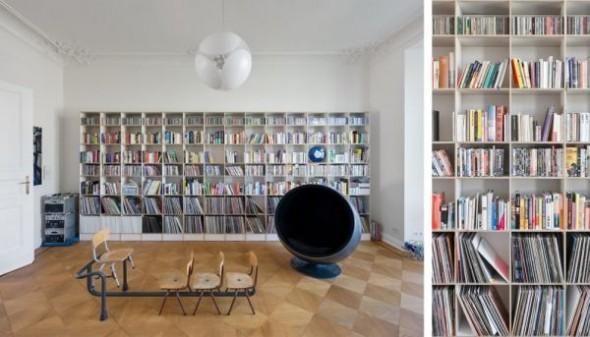 Wilhelminian Apartment Berlin with bookscase