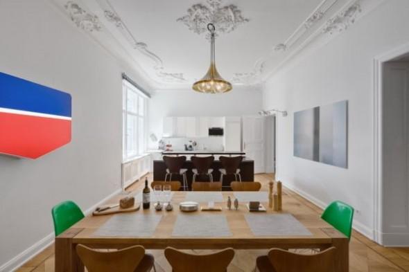 dining table Wilhelminian Apartment Berlin