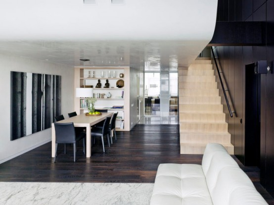 minimalist apartment with vintage elements
